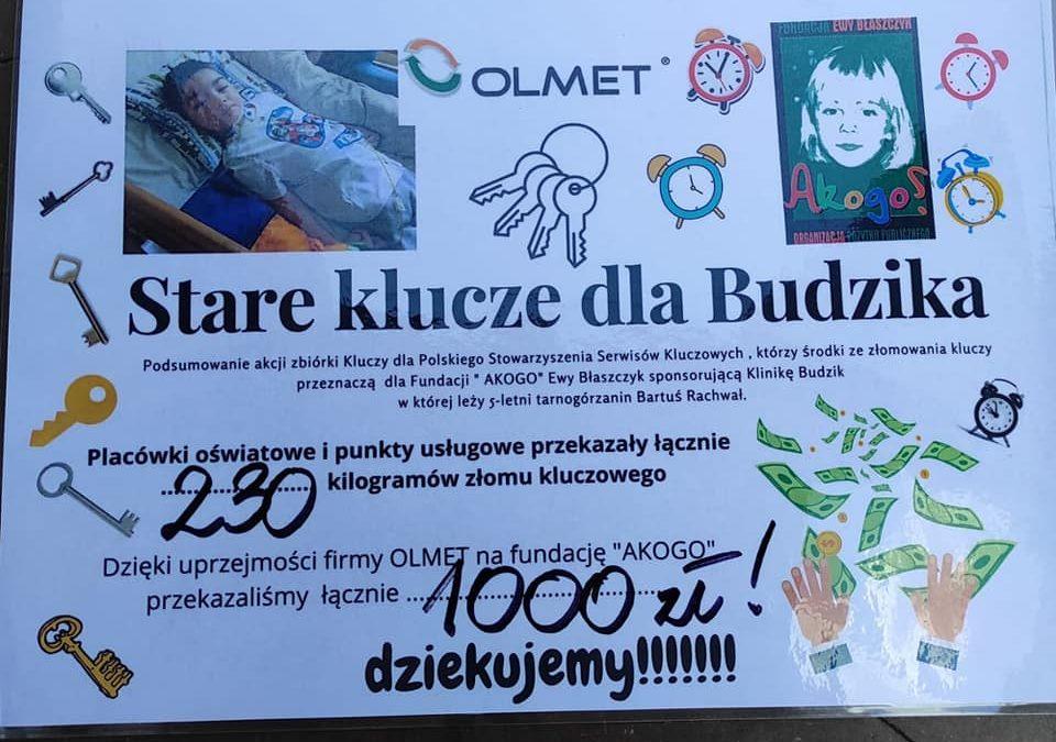 """Podsumowanie akcji ,,Stare Klucze dla Budzika"""""""